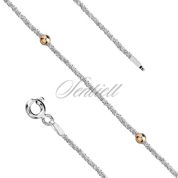 Silver (925) chain with gold-plated balls