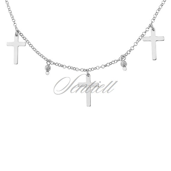 Silver (925) choker necklace with crosses