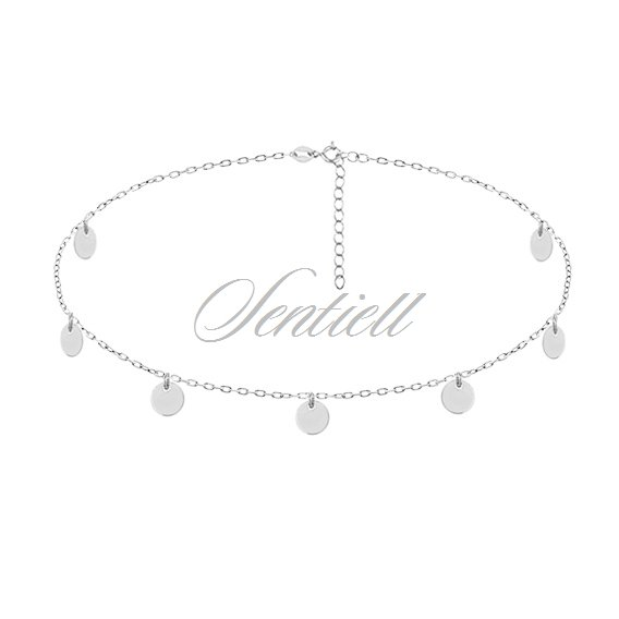 Silver (925) choker necklace with round pendants