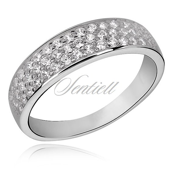 Silver (925) classic ring with zirconia