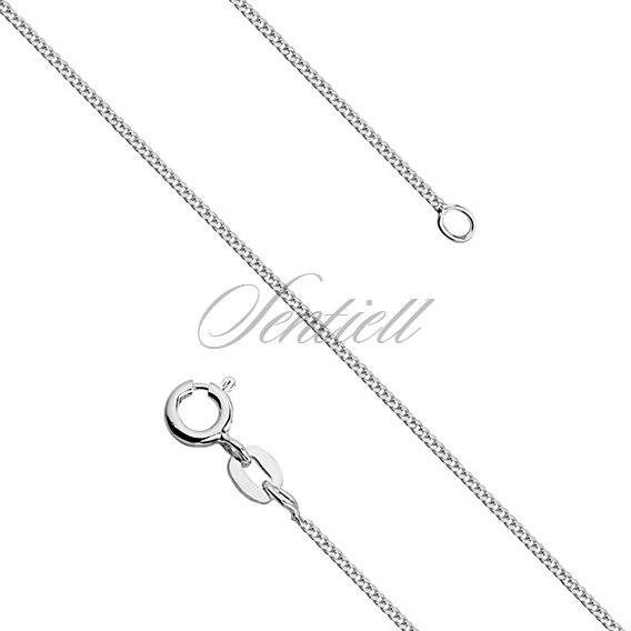 Silver (925) diamond-cut chain - curb Ø 030 weight from 1,3g