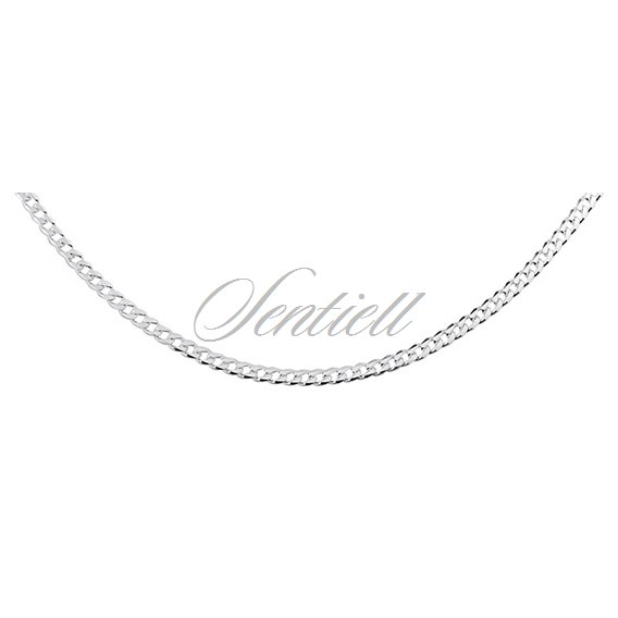 Silver (925) diamond-cut chain - curb Ø 065