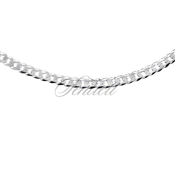 Silver (925) diamond-cut chain - curb extra flat Ø 0100 weight from 9,7g