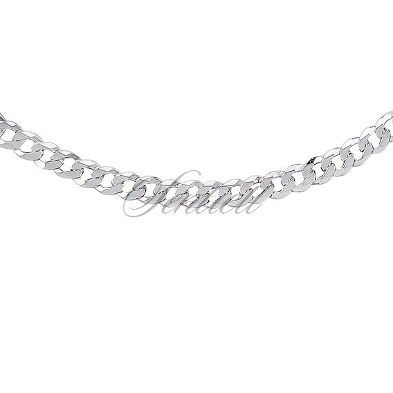 Silver (925) diamond-cut chain - curb extra flat Ø 0120
