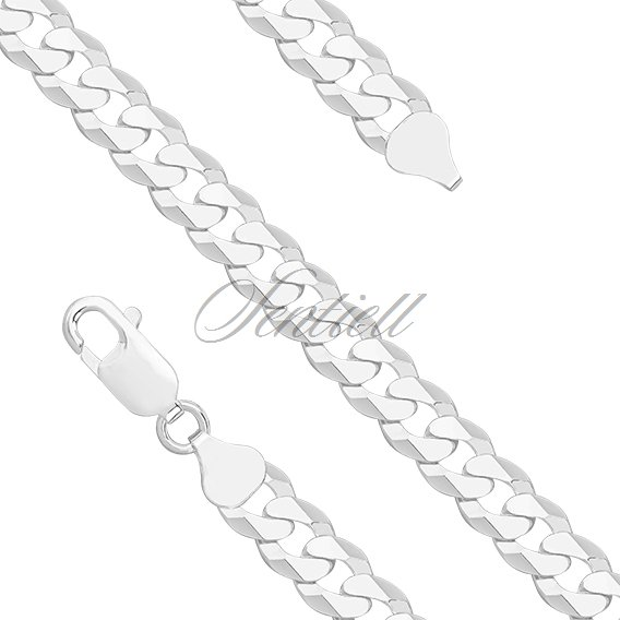 Silver (925) diamond-cut  chain - curb extra flat Ø 0200
