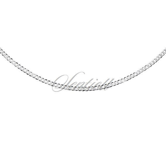 Silver (925) diamond-cut chain - curb extra flat Ø 040 weight from 1,8g
