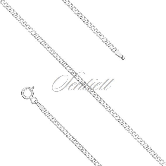 Silver (925) diamond-cut chain - curb extra flat Ø 060 weight from 3,4g