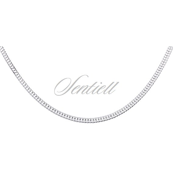 Silver (925) diamond-cut chain - double curb Ø 040