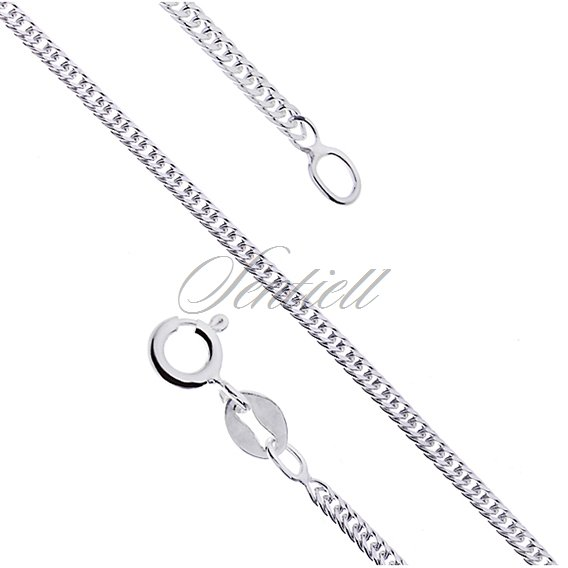 Silver (925) diamond-cut chain - double curb Ø 040 weight from 3,6g