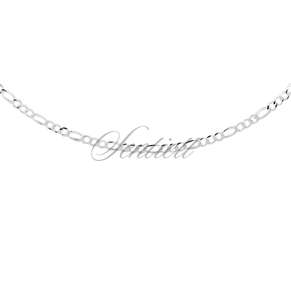 Silver (925) diamond-cut chain - figaro extra flat Ø 060 weight from 3,6g