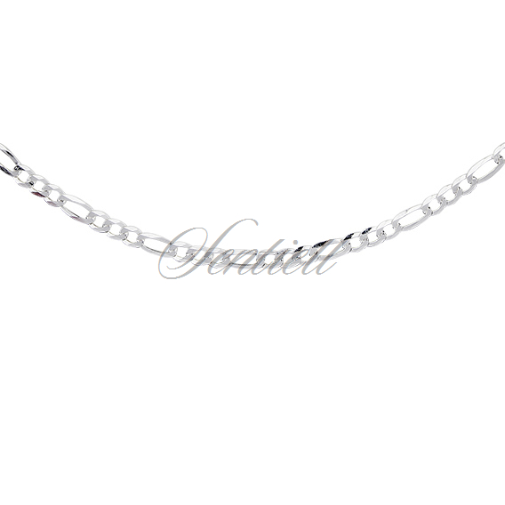 Silver (925) diamond-cut chain - figaro extra flat Ø 080 weight from 5,3g