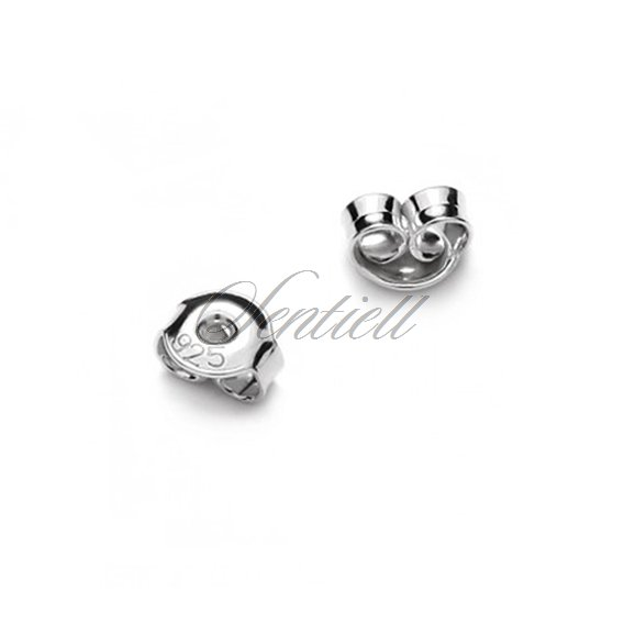 Silver (925) ear nuts / clutches for stud earrings - tempered (20pairs)