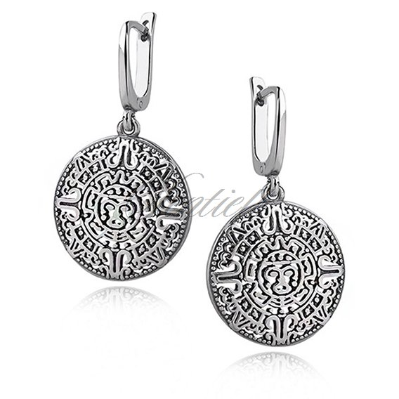 Silver (925) earrings - Mayan calendar