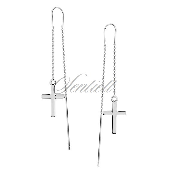 Silver (925) earrings - crosses