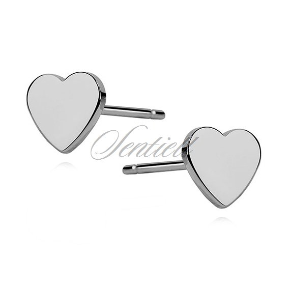 Silver (925) earrings - hearts