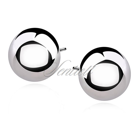 Silver (925) earrings uniwersal half-balls