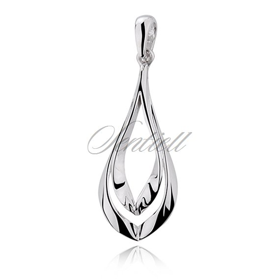 Silver (925) elegant pendant highly polished