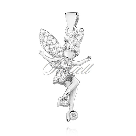 Silver (925) fairy pendant with zirconia