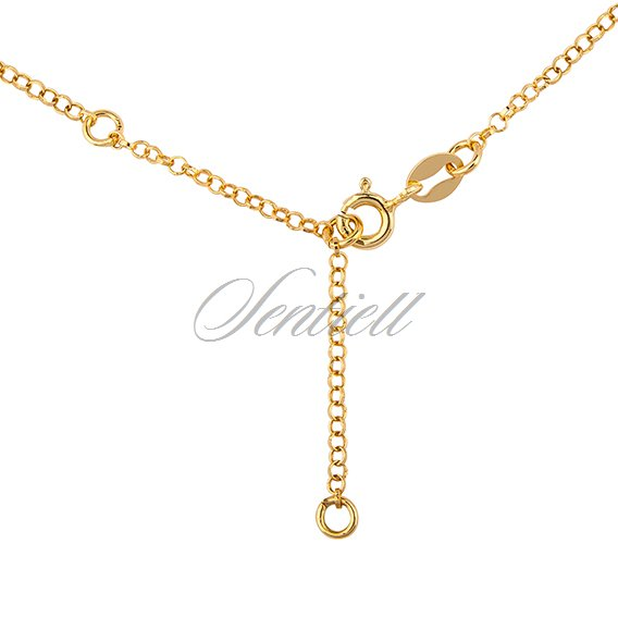 Silver (925) gold-plated choker necklace with stars