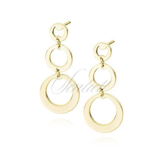 Silver (925) gold-plated earrings