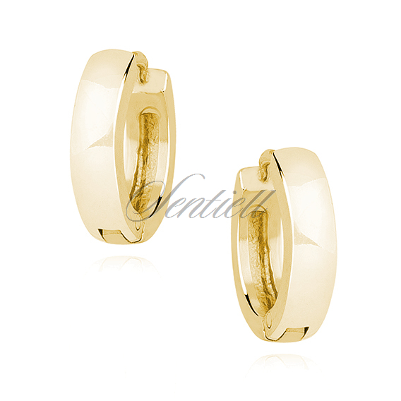 Silver (925) gold-plated earrings hoops - highly polished