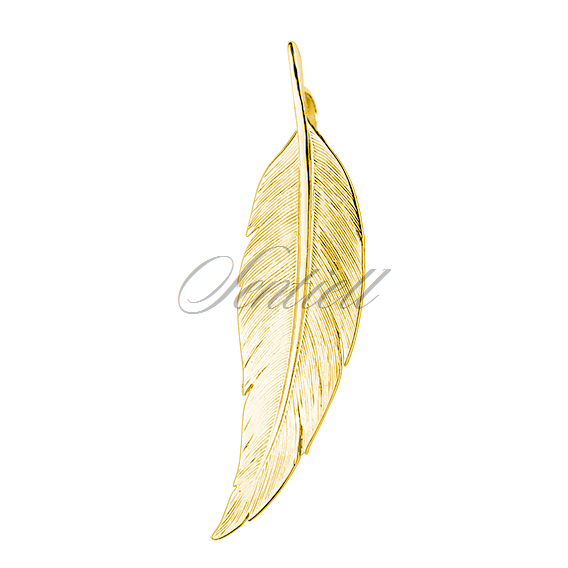 Silver (925) gold-plated elegant pendant - feather