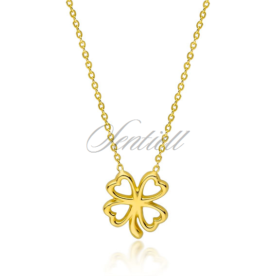 Silver (925) gold-plated necklace clover