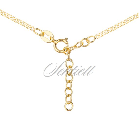 Silver (925) gold-plated necklace with cross