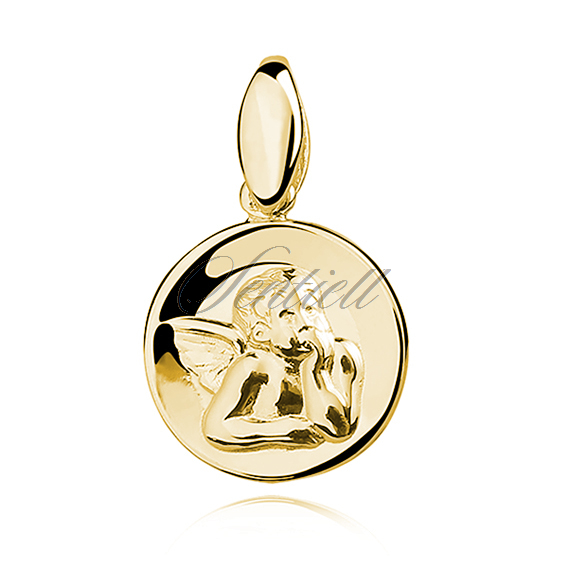 Silver (925) gold-plated pendant - Angel