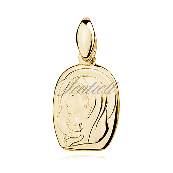 Silver (925) gold-plated pendant Blessed Virgin Marry with Child