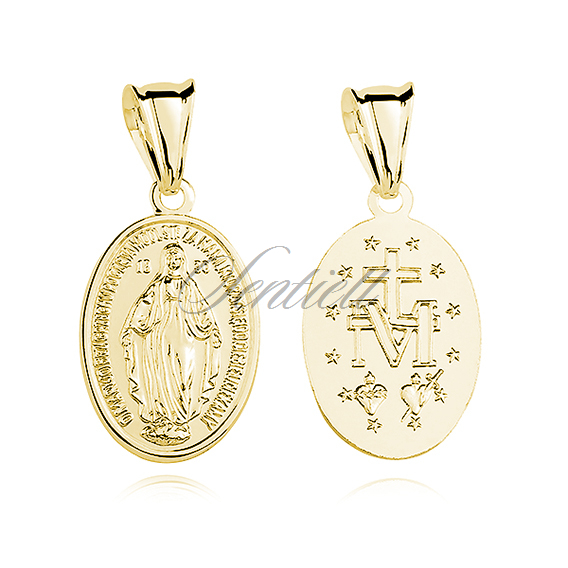 Silver (925) gold-plated pendant Miraculous Virgin Mary