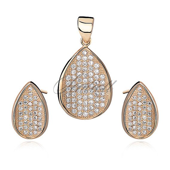 Silver (925) impressive gold-plated Set with zirconia