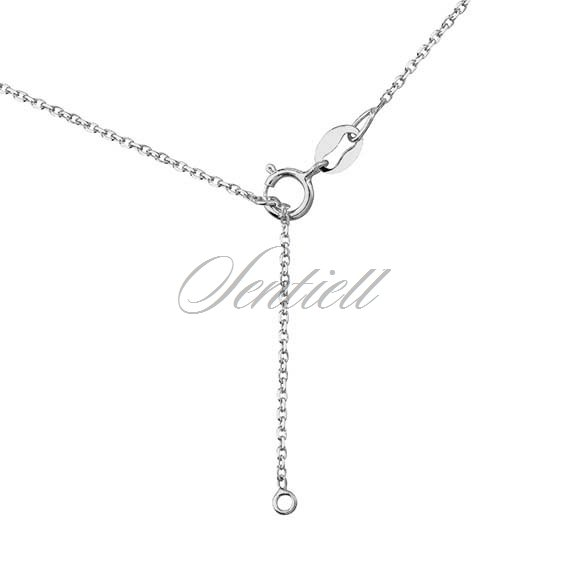 Silver (925) lariat necklace with leafs pendants