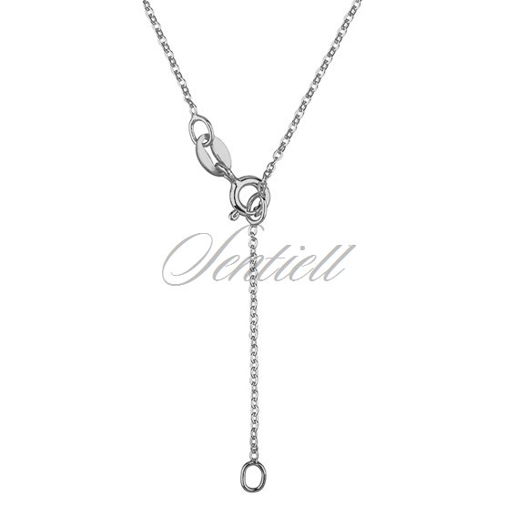 Silver (925) lariat necklace with open-work pendant and circle