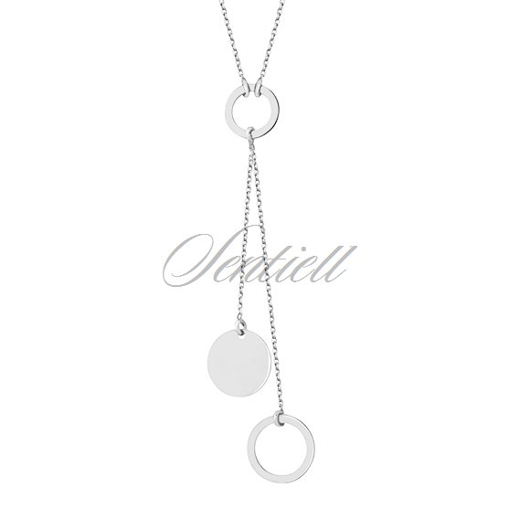 Silver (925) necklace - circles
