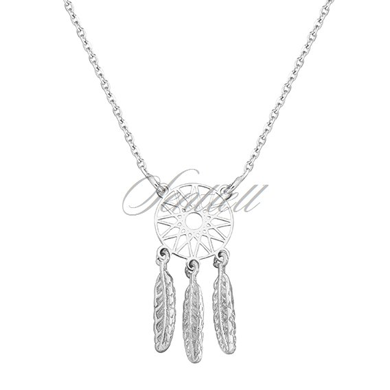 Silver (925) necklace - dreamcatcher