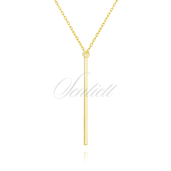 Silver (925) necklace, gold-plated