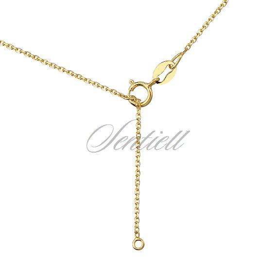 Silver (925) necklace - openwork circle, gold-plated