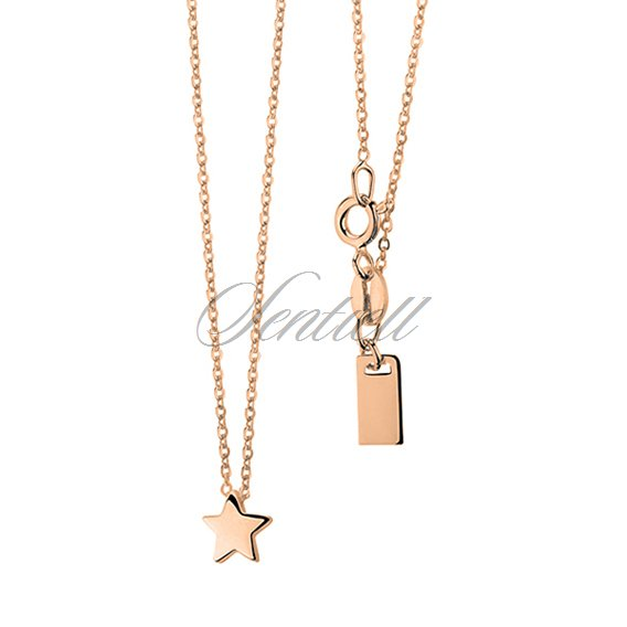 Silver (925) necklace star, gold-plated