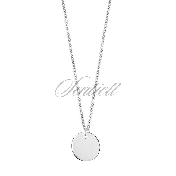 Silver (925) necklace with circle