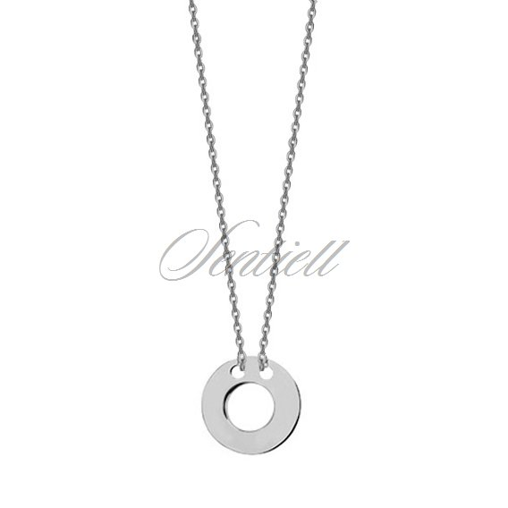 Silver (925) necklace with circle pendant