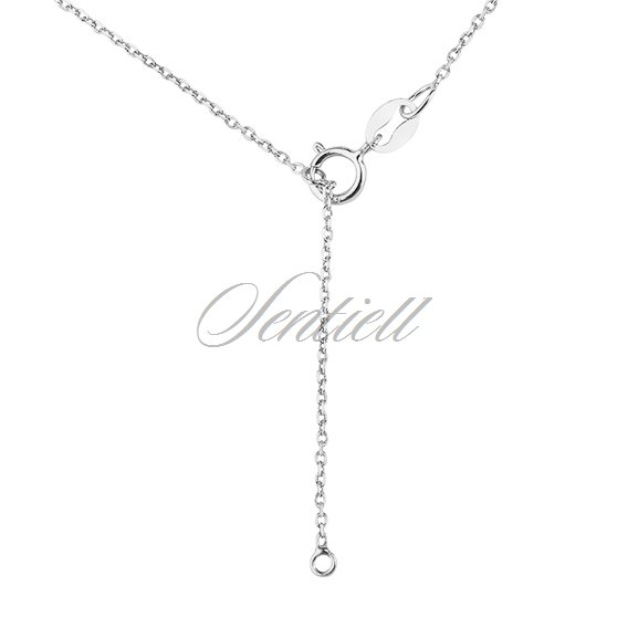 Silver (925) necklace with clover and heart