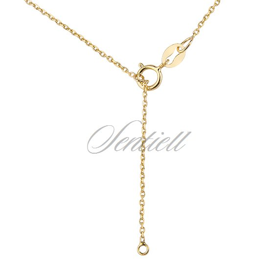 Silver (925) necklace with diamond, gold-plated