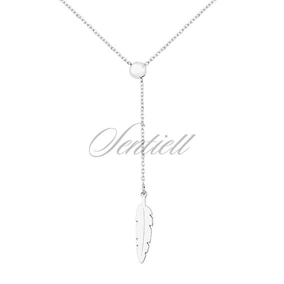 Silver (925) necklace with feather