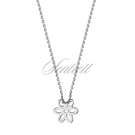 Silver (925) necklace with flower