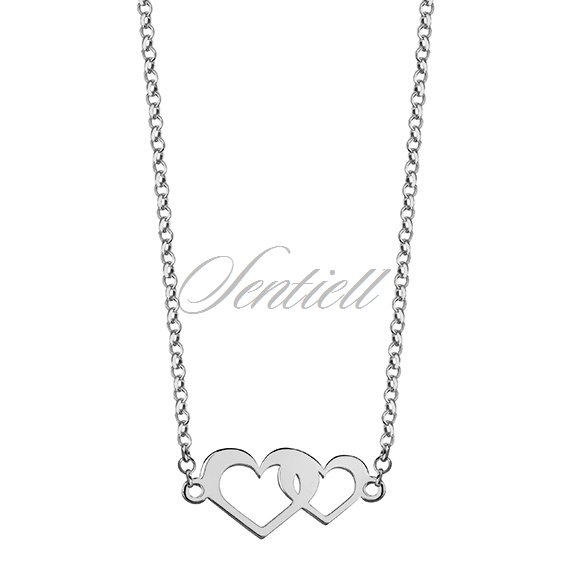 Silver (925) necklace with hearts