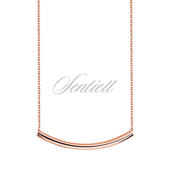 Silver (925) necklace with rose gold-plated tube