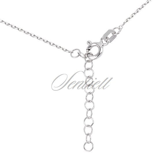 Silver (925) necklace with zirconia - clover