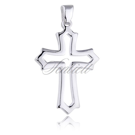 Silver (925) pendant cross - highly polished
