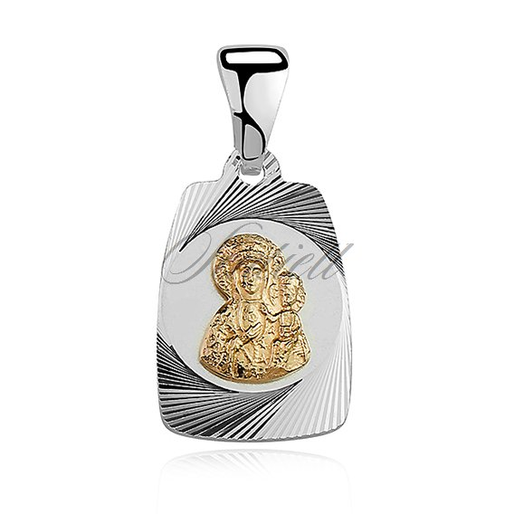 Silver (925) pendant gold-plated Virgin Mary / Black Madonna